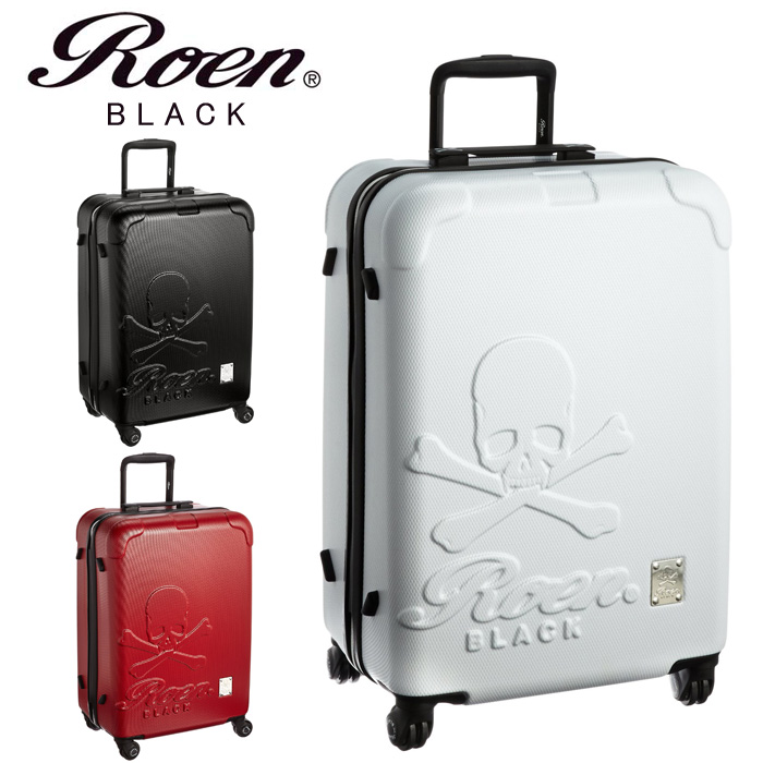 Roen Black Hard Carrying Case M Travel Bag Suitcase Carry Skull 2 4 Night Trip Hiromtakajara