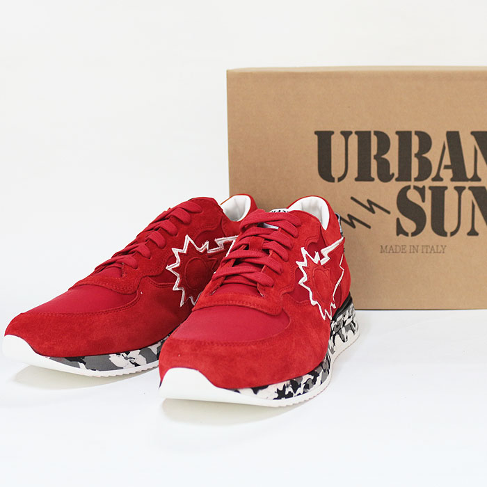 8a7816072ca31 upper gate: URBANSUN Urban sun sneakers andre059 red low-frequency ...