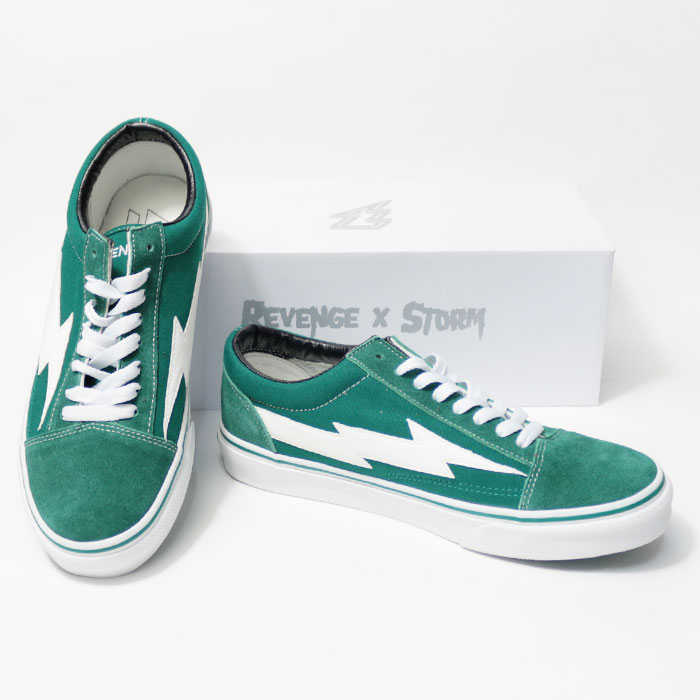 0cb71f5ddbb5 upper gate  Vans system street hiphop of REVENGE X STORM (revenge X storm) sneakers  revenge storm green men gap Dis unisex REVENGESTORM shoes low-frequency ...