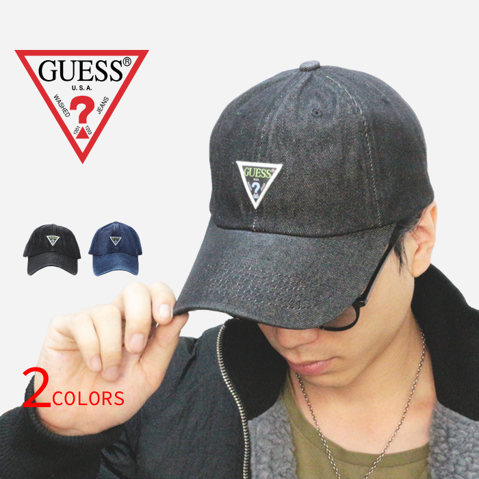 1974c5bc60543 GUESS ゲスロゴデニムキャップ CAP 2color- dark blue black man and woman combined use men  gap Dis unisex ai3w8372kh