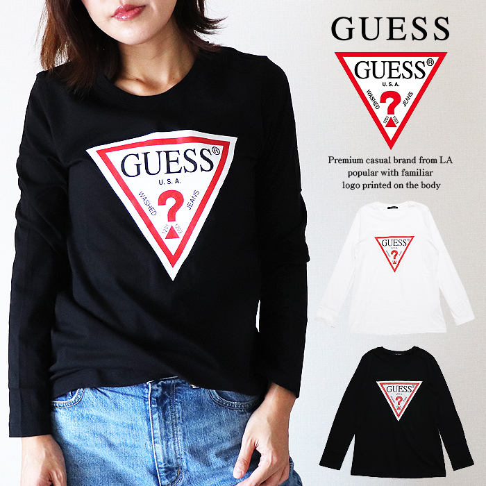 a86131a6ce2a The women gap Dis print T-shirt of the design which arranged a triangle  logo more basic than GUESS (ゲス).