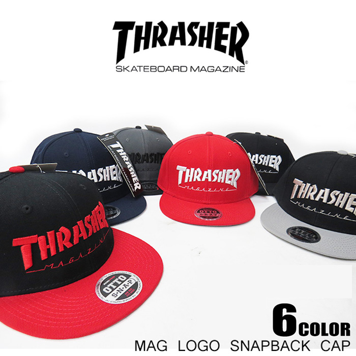 e5641e3bc53 THRASHER   Thrasher MAG LOGO SNAPBACK CAP • Hat CAP hats caps and to  Thrasher rock of punk skater Street Cap casual series!