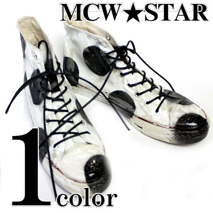 c02151a0f5f6 Remake craftsman damage handmade custom sneakers custom shoe of MCW ☆ STAR   dot higher frequency elimination sneakers ◇ mens men fashion shoes shoes ...