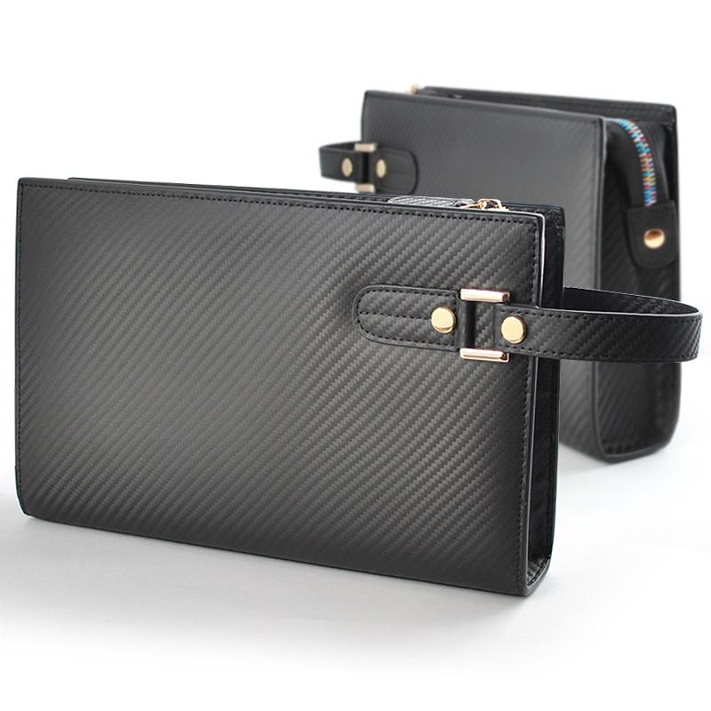 メンズ 牛革 クラッチバッグ 大容量 レザー クラッチバック セカンドバッグ カーボンレザー 紳士 セカンドバック スタイリッシュ BS-45518