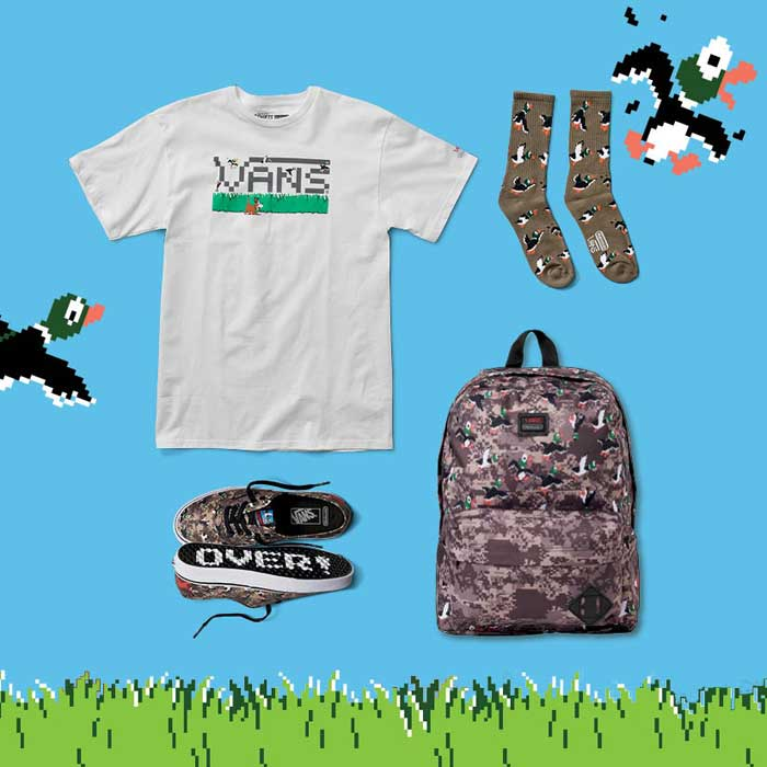 vans x nintendo. vans (vans) x nintendo nintendo collaboration backpack oldschool2 duck hunt backpack men lady\u0027s rucksack vans l