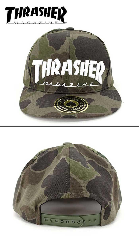 THRASHER slasher CAP original design CAMO pattern mesh Cap MAG LOGO  embroidery camouflage stretch snap back mens ladies     5ff1053ba7d