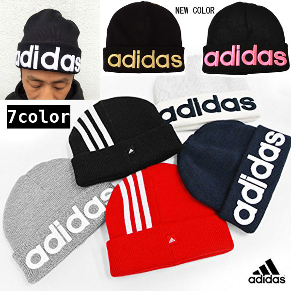 d7802cc0543 Adidas BEANIE 168111801 standing there body 3D embroidery Vinny caps  knitting Hat thick men s women s Street