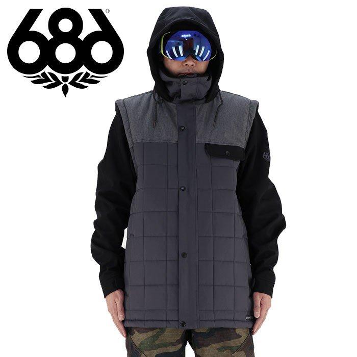 686 スノーボードウエア メンズ スノボーウエア キルティング 耐久性撥水 スノボウェア 中綿