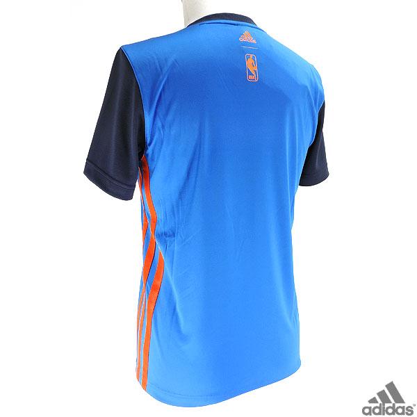 NBA 雷霆實踐襯衫 t 恤 NBA 雷霆籃球是阿迪達斯 ITI72 短袖 T 恤