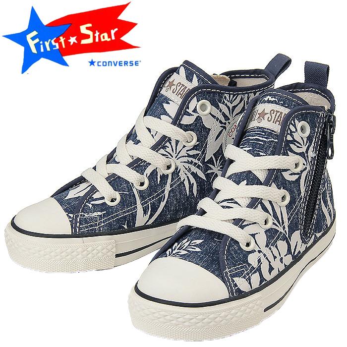 94e3cf2df3b198 Converse kids sneakers Hawaiian shirt navy CONVERSE CHILD ALL STAR N  ALOHASHIRTS Z HI