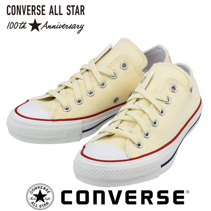 32862290 Converse colors sneakers of the 100th anniversary of CONVERSE  ALLSTAR 100 COLORS OX all-stars low-frequency cut ecru