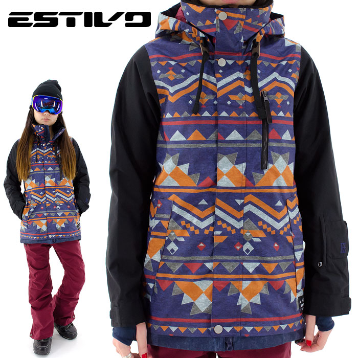 ESTIVO スノボジャケット スノーボードウェア エスティボ レディス スノボウェア EVW1632
