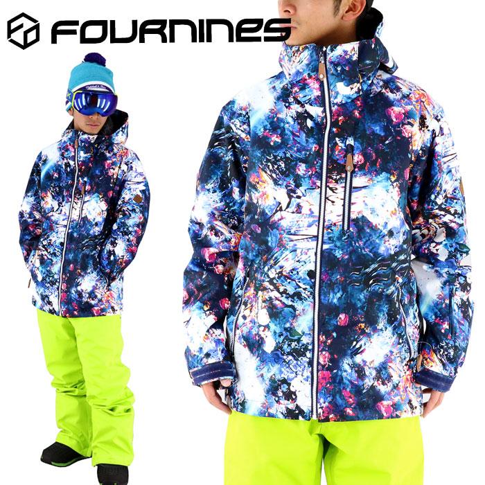 スノボウェア 男女兼用 ジャケット フォーナインズ ウェア スノボ スキー スノーボード FOURNINES CHAOS