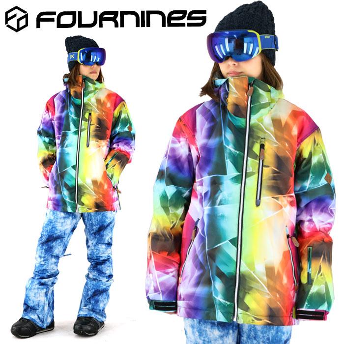 フォーナインズ スノーウェア 男女兼用 スノーボード 総柄 ジャケット FOURNINES