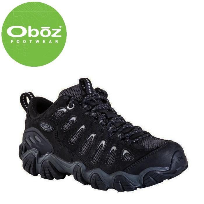 オボズ メンズ登山靴 トレッキングシューズ アウトドアシューズ Oboz 20601 ブラック ハイキング トレイル