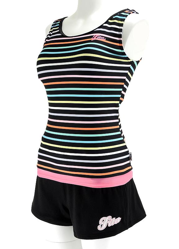 斐樂 tankini 女性健身泳裝分離短褲 3 點集的 Fila 315203 供即時交貨