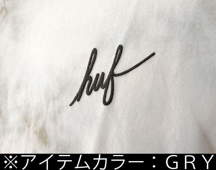 HUF 男裝 T 恤霍夫領帶染料模式紮染水晶洗腳本三通