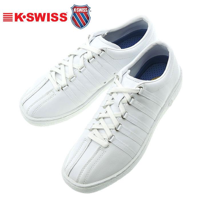 クラシック66 ホワイト/ホワイト ケースイス メンズスニーカー K・SWISS CLASSIC66 レザーシューズ