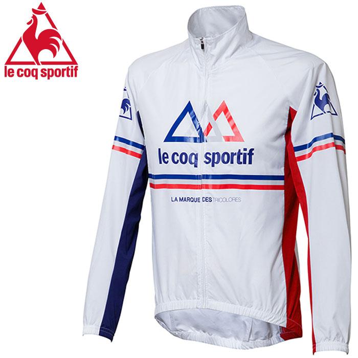 Lecoq ルコック サイクリング トリコロールウィンドジャケット ホワイト 白 メンズ サイクリング 自転車
