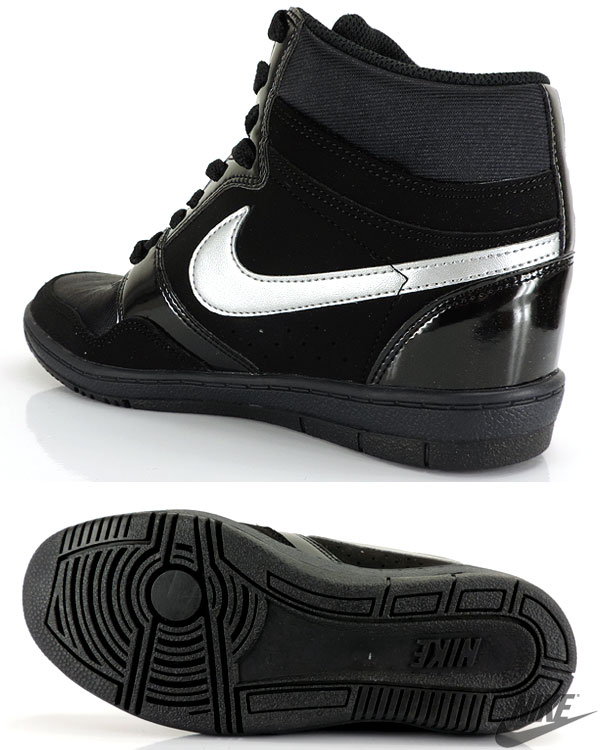 Nike ladies in her sneakers NIKE WMNS FORCE SKY HIGH black high cut shoes  shoes 629746