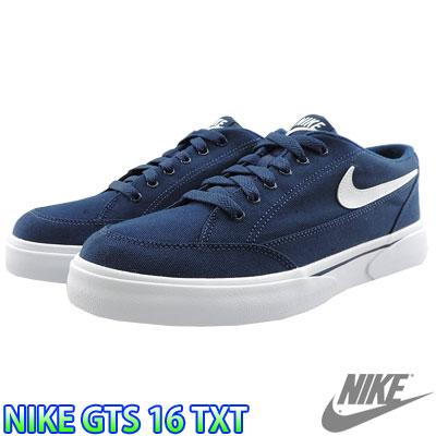 NIKE GTS 16 TXT dark blue white Nike GTS 16 textile men's casual shoes  sneaker 840300-410