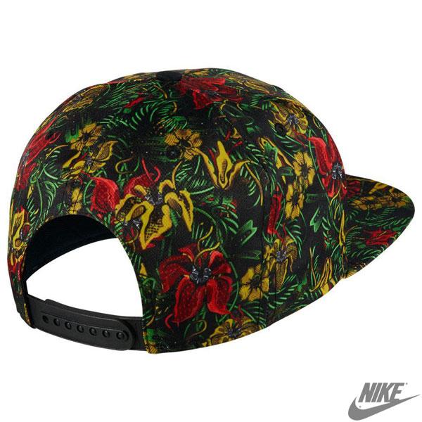 耐克花卉業績回升帽花紋熱帶植物園圖案帽子帽子帽子耐克 657514
