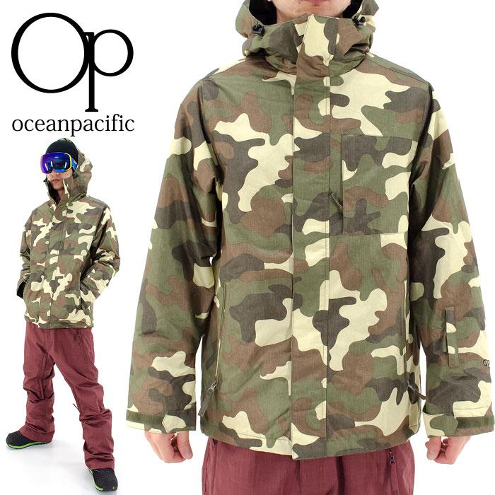 OP スノボウェア 迷彩柄 スノージャケット メンズ スノーボードジャケット オーピー 総柄ウェアー 546413