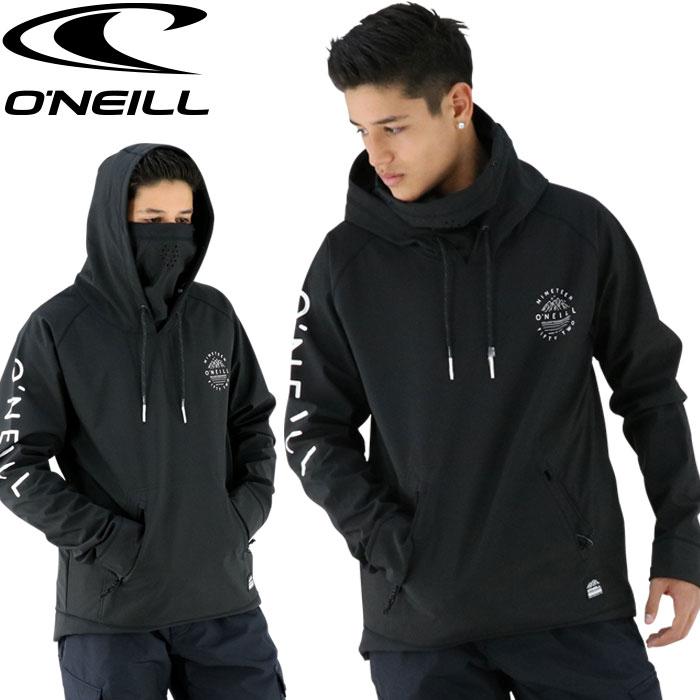 オニール マスク付き ONEILL 耐水パーカー スノーウェア メンズ ジャケット 黒色 ブラック ウェア ウエア