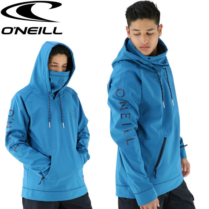 スノーウェア メンズ 青色 耐水パーカー ONEILL オニール スキーウェア ブルー ジャケット スノー マスク付