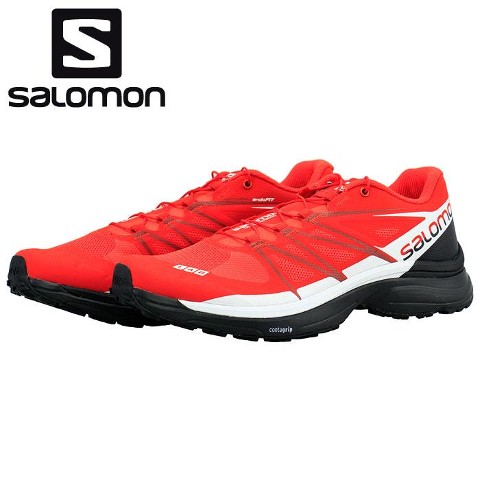 トレイルランニングシューズ サロモン レッド 赤色 トレラン SALOMON S/LAB WINGS 8 エスラボ ウイングス8