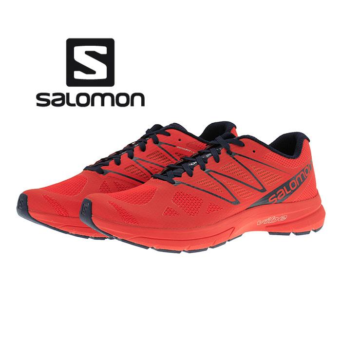サロモン SALOMON SONIC PRO 2 ソニックプロ2 ロードランニングシューズ FIERYRED/NAVY BLAZER/NAVYBLAZER
