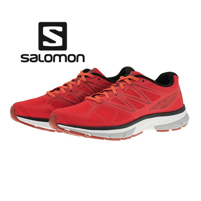 サロモン SALOMON SONIC ソニック ロードランニングシューズ トレイルラン Matador/White/Flame