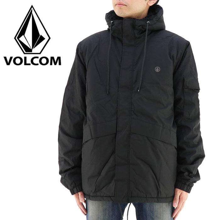ボルコム VOLCOM メンズジャケット 黒 ブラック 耐水 アウター カジュアル フーデッドジャケット パーカー