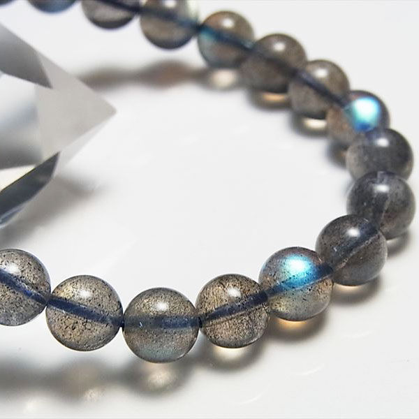 ラブラドライト AAAAA+ ブレスレット現物画像【約8.5mm×23珠】マダガスカル産ラブラドライト|数珠|スペクトロライト|パワーストーン|天然石|ブレスレット