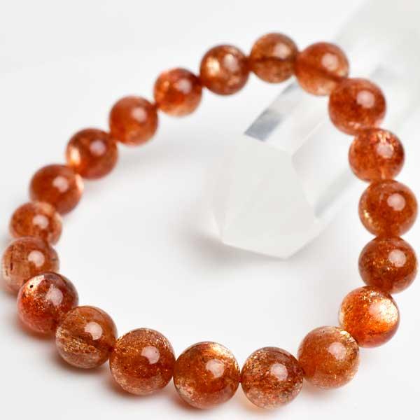 サンストーン AAAA ブレスレット【約10mm×20珠】【インド産】|サンストーン|ブレスレット|日長石|天然石|パワーストーン|