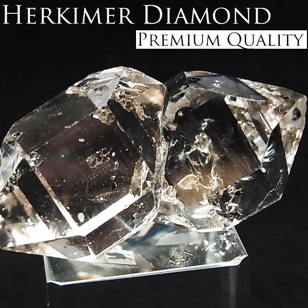 ハーキマーダイヤモンド 結晶 原石 プレミアムクォリティ【アメリカ・NY州ハーキマー地区産】【約28.1g】ハーキマーダイアモンド 天然石 パワーストーン 結晶 原石 ハーキマー水晶 ツーソン 