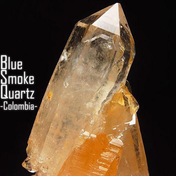コロンビア水晶 ブルースモーククォーツ 単結晶 原石【コロンビア・ミルトン鉱山産】コロンビア|貫入|水晶|ポイント|単結晶|天然石|原石|ポイント|