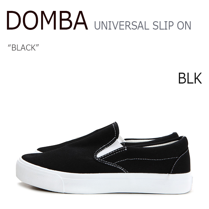DOMBA SHOES UNIVERSAL SLIP ON BLACK 【F-2011】【シューズ】【スニーカー】:upsuke