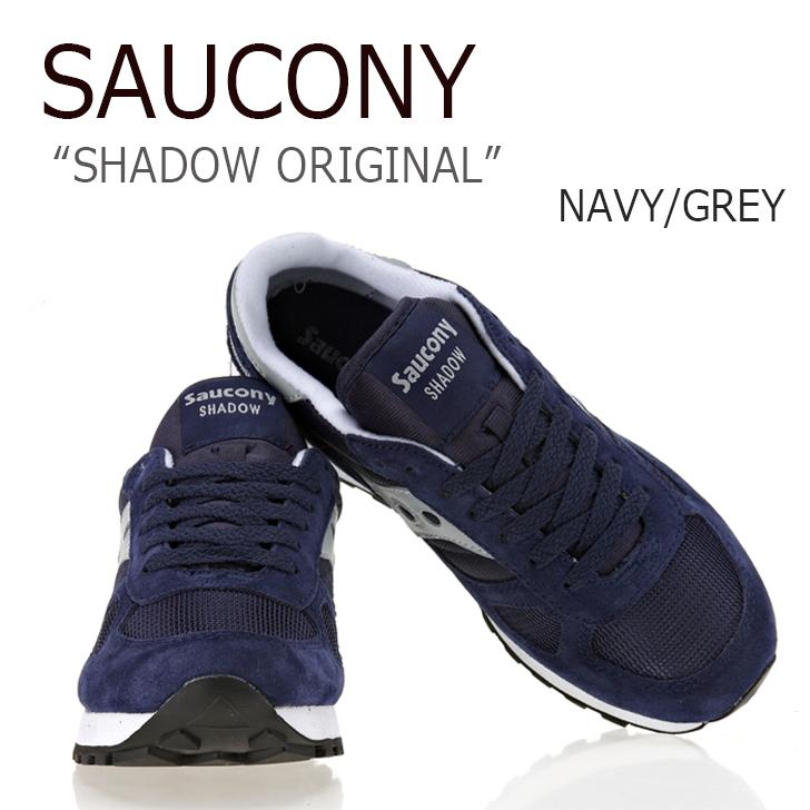 サッカニー スニーカー Saucony Shadow Original ネイビー グレー 2108-523 海外直輸入USED品 シャドウ オリジナル シューズ レディース NAVY GREY 保証 メンズ 市販 未使用品 中古