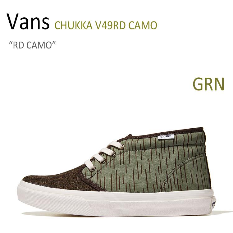 Vans バンズ CHUKKA V49RD 新作送料無料 RD メーカー在庫限り品 CAMO シューズ チャッカブーツ