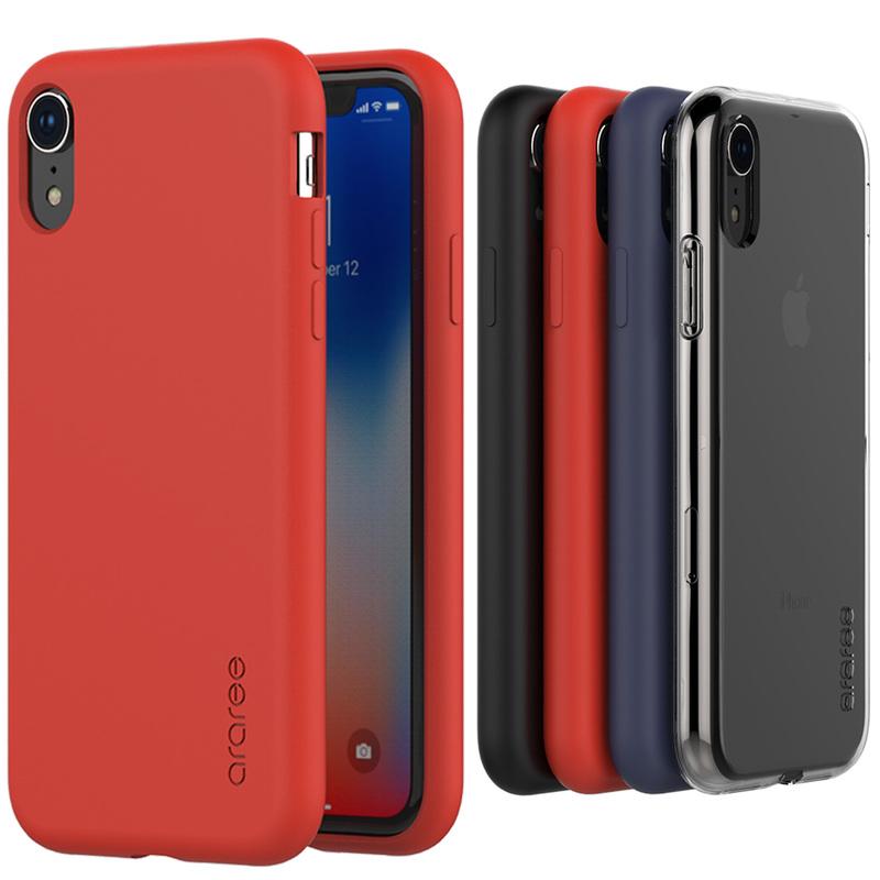 iPhoneXR ケース アイフォンXR Qi 対応 1着でも送料無料 ワイヤレス充電 iPhone XR araree クリア アイフォン A‐fit エンボス加工 お取り寄せ 新作からSALEアイテム等お得な商品満載 カバー マット感 アラリー エーフィット