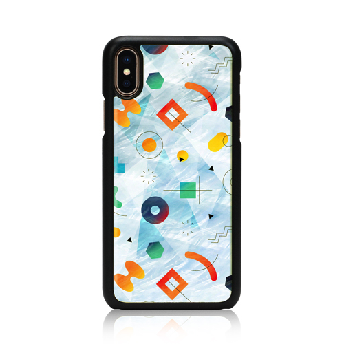 iPhone XS X 国産品 Qi Qi チー 対応 ワイヤレス充電 ケース天然貝 お取り寄せ 新作 アイフォン ポッピンロック Poppin アイキンス ikins Rock カバー