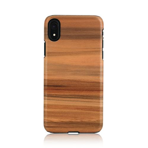 iPhoneXR ケース アイフォン カバー 木 Qi 対応 ワイヤレス充電 iPhone ケース天然木 売れ筋ランキング ManWood 木製 カプチーノ XR マンアンドウッド 半額 お取り寄せ Cappuccino