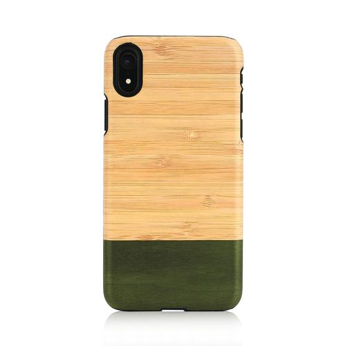 超激安 iPhoneXR ケース アイフォン カバー 木 Qi 対応 ワイヤレス充電 iPhone XR 天然木 ManWood 木製 Bamboo お取り寄せ 竹素材 安い Forest バンブーフォレスト マンアンドウッド