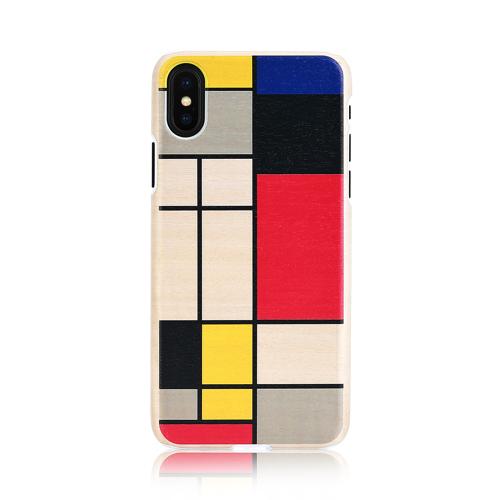 iPhone XS Max ケース ついに入荷 アイフォン カバー 木 Qi Qi 対応 マンアンドウッド お取り寄せ Mondrian 木製 ワイヤレス充電 ManWood モンドリアンウッド Wood 天然木 爆売り