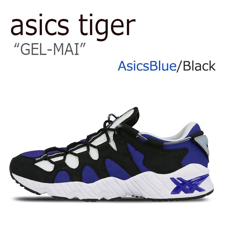 1着でも送料無料 アシックスタイガー スニーカー asics tiger GEL-MAI ブルー ブラック SALENEW大人気! AsicsBlue H703N-4590 Black ゲルマイ メンズ シューズ