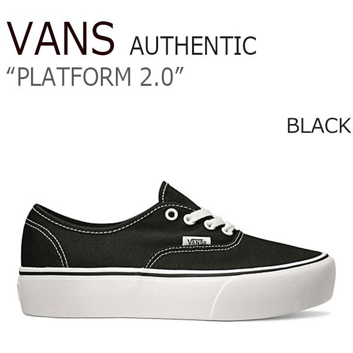 バンズ スニーカー VANS オーセンティック AUTHENTIC 厚底 BLACK 流行 レディース 2.0 FLVNAA1U13 PLATFORM 贈呈 プラットフォーム シューズ VN0A3AV8BLK ブラック