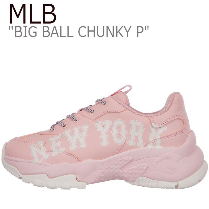 MLBシューズ MLBヤンキース ビッグボールチャンキ- ヤンキースシューズ 海外限定 mlb Mlb エムエルビー スニーカー MLB レディース BIG BALL CHUNKY YORK YANKEES チャンキー 驚きの値段 ピンク PINK NEW P ニューヨークヤンキース ビッグ ボール 32SHC2911-50B シューズ