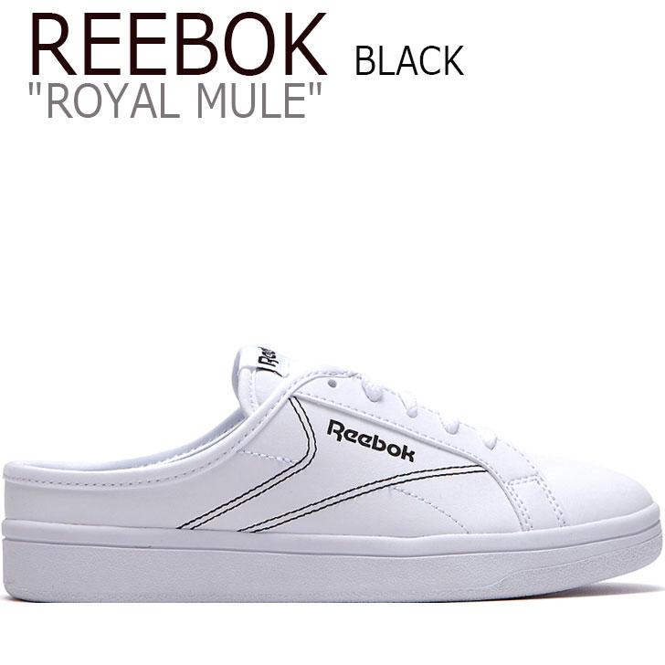 リーボックスニーカー Reebok reebok royalmule MULE ロイヤルミュール reebokミュール リーボックMULE ロイヤルミュールリーボック リーボックROYAL 海外直輸入USED品 リーボック スニーカー 割引 REEBOK ロイヤル レディース 未使用品 シューズ EF9068 ホワイト メンズ WHITE ブラック ROYAL メーカー公式ショップ ミュール BLACK 中古 FLRB9A2U25