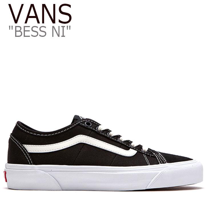 ヴァンズ vansスニーカー 高級な VANSベスニー vans bess ni ベスニーブラック VANSブラック black バンズ スニーカー ブラック VANS メンズ BESS NI シューズ VN0A4BTHV84 レディース FLVN9F3U41 ベスニー 有名な BLACK